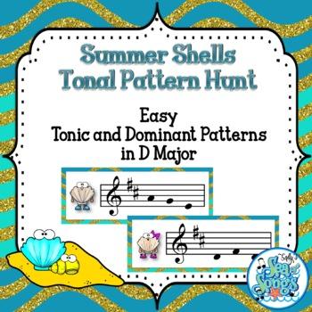 Summer Fun Tonal Pattern Hunt - D Major