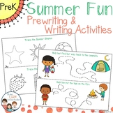 Summer Fun Tracing - Prewriting & Writing Center Activities