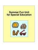Summer Fun Unit for Special Education