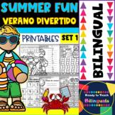 Summer Fun - Verano Divertido - Printables - Set 1 - Bilingual
