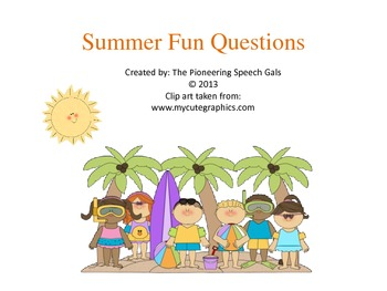 Summer Fun Wh Questions