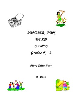 Grades K-2 Summer Fun Word Games