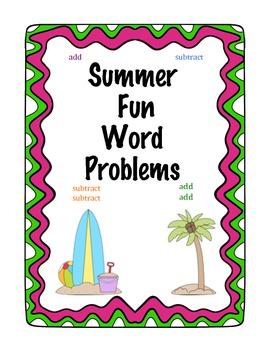 Summer Fun Word Problems