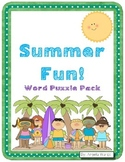 Summer Fun Word Puzzles