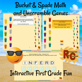 Summer Fun Interactive Literacy and Maths Activities for 1st