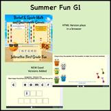 Summer Fun Interactive Literacy & Math Activities for 1st