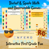 Summer Fun Interactive Literacy and Math Activities for 1st