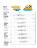 Big Summer Word Search - End of School Year