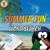 Summer Fun Word Search - Word Find Activity (FREE)