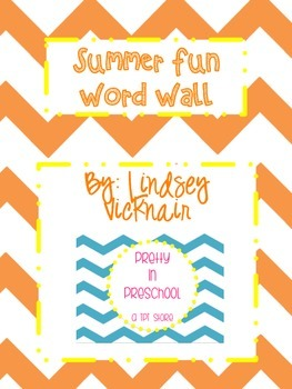 Summer Fun Word Wall