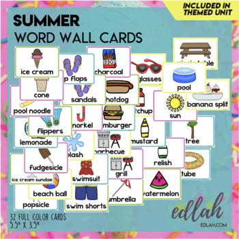 Summer Fun Word Wall Cards (set of 31)