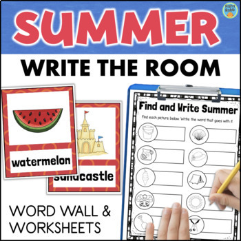 SUMMER Word Wall + Write the Room