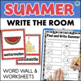 SUMMER Vocabulary Word Wall + Write the Room Activities