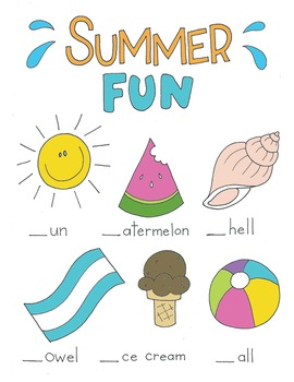 FREE Summer Fun Worksheet! (Words and Coloring)