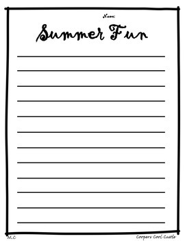 Summer Fun Writing Activity