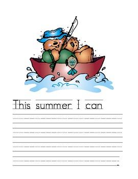 Summer Fun Writing Journal Prompts