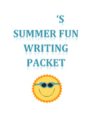 Summer Fun Writing Packet