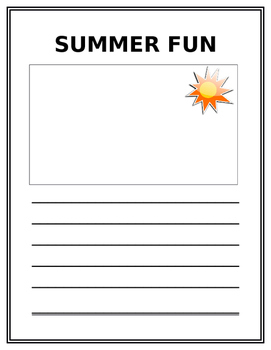 Summer Fun Writing Paper