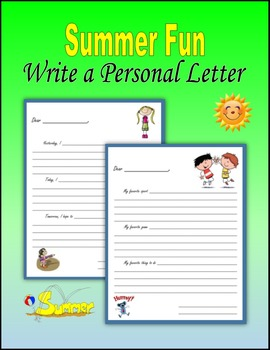 Summer Fun:  Writing Personal Letters