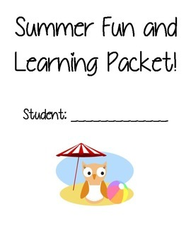 Summer Fun and Learning Packet