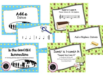 Summer Fun and Sun Songs--A BUNDLE of folk songs with instruments & movement
