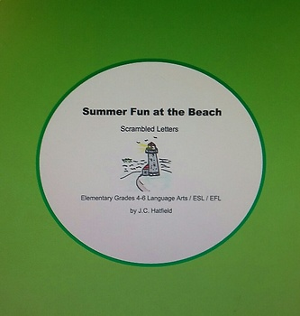 Summer Fun at the Beach Scrambled letters