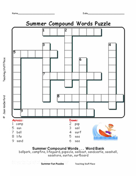 SUMMER MATH | VOCABULARY | Riddles | Word Searches  FUN