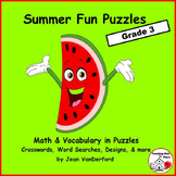 End of Year | SUMMER MATH | VOCABULARY | Riddles | Word Se