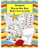 Summer Math Centers | Summer Math Activities Kindergarten 1st Grade Graphing