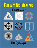 Summer Fun with Brainteasers (100 pages) - Independent Wor