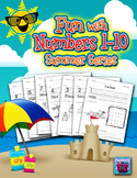 Number Recognition Worksheets - 1-10 for Summer