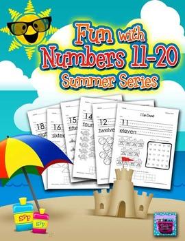Number Recognition Worksheets - 11-20 for Summer