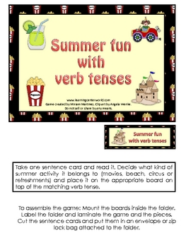 Summer Fun with Verb Tenses