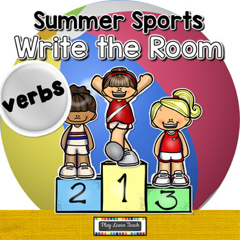 Summer Sports Write the Room Verbs