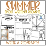 Summer Sport Activities Write a Biography on an Athlete
