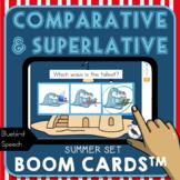 Comparative/Superlative Speech Therapy Grammar Cards: Summ