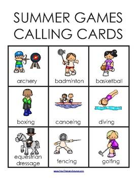 Summer Games Bingo Classroom Set - Includes 30 Different Bingo Boards