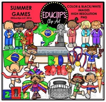 Summer Games Clip Art Bundle {Educlips Clipart}