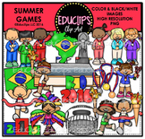 Summer Games Clip Art Bundle {Educlips Clipart}