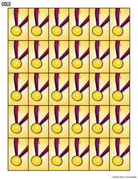 Summer Games Differentiated Math Worksheets and Brag Tags