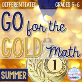 Summer Sports Differentiated Math Worksheets and Brag Tags