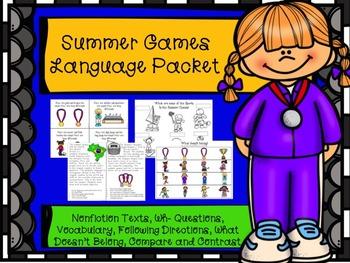Summer Games Language Packet