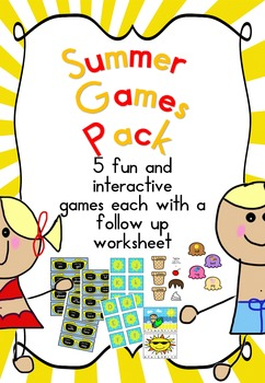 Summer Games Pack (Kindergarten, 1st Grade)
