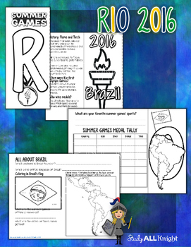 SUMMER GAMES RIO 2016 FLIP BOOK AND ACTIVITIES