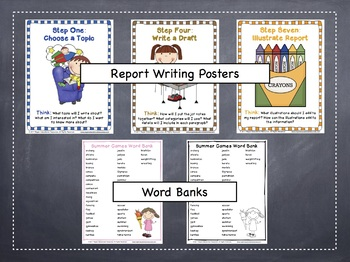 Summer Games: Tiered Report Writing Templates