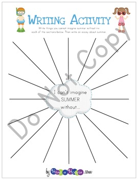 Summer Games and Activities for Third, Fourth and Fifth grades