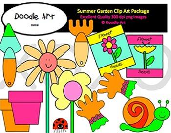 Summer Garden Clipart Pack