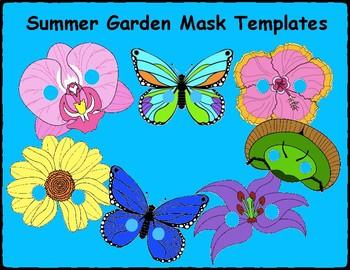 Summer Garden Mask Templates