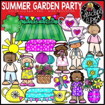 Summer Garden Party Clip Art Set {Educlips Clipart}