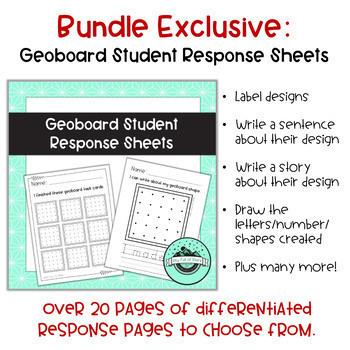 Geoboard Task Cards ENDLESS Bundle